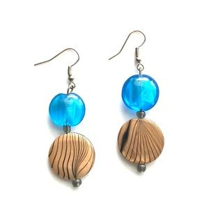 Beautiful glass earrings